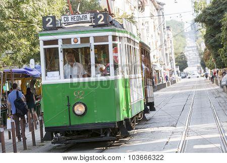 Retro Cable Tram Car