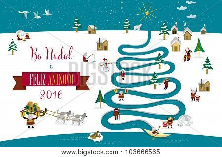 Christmas River Tree 2016 Galician
