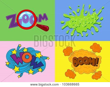Stickers And Speech Bubble