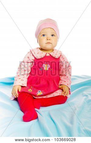 Little Girl Baby In A Dress