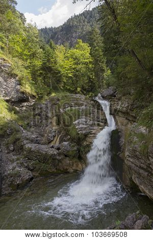 Kuhflucht Cascades, Bavarian Mountain Torrent