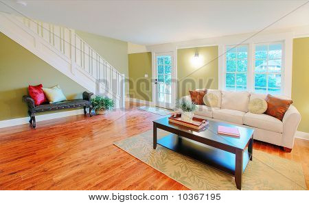Living room with nice furniture