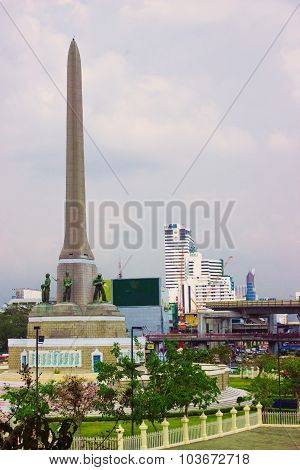 Victory Monument - Big Military Monument In Bangkok, Thailand