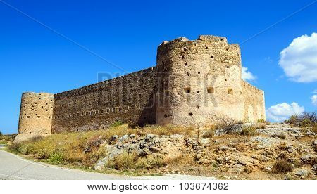 Turkish medieval fortress at Ancient Aptera in Crete