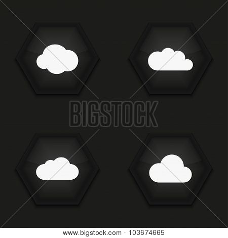 Vector modern cloud icons set