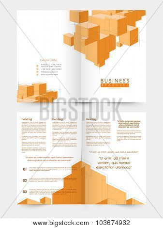 Professional Business Brochure, Template or Flyer presentation with abstract design.