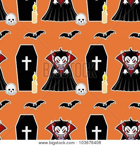 Vampire Seamless Pattern 4