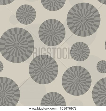 Brownish Abstract Sunray Circle Pattern