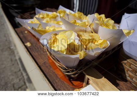 Fried Potato Cornets
