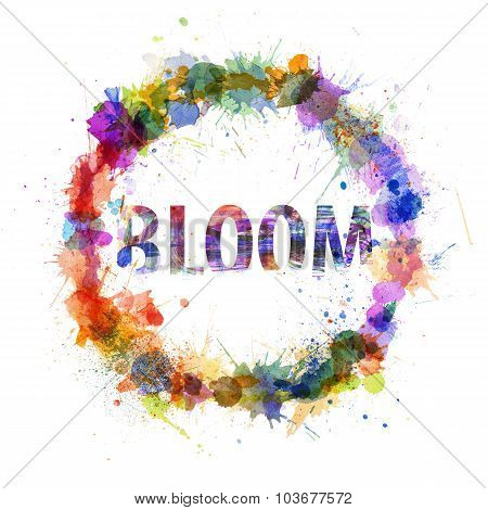 Bloom Concept, Watercolor Splashes As A Sign