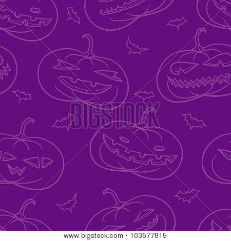 Purple Pumpkins Pattern