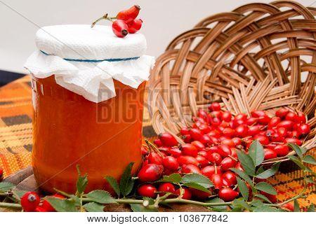 Rosehip marmalade.