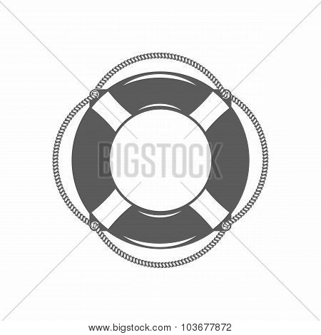 lifebuoy black and white vector illustration