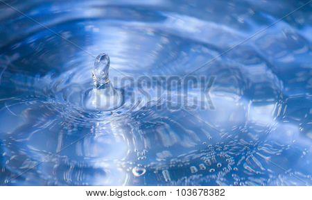 Water Splash Macro With Water Column