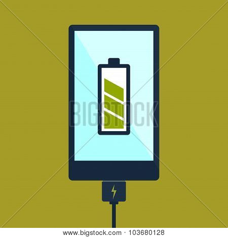 Smart Phone Charging Using Cable