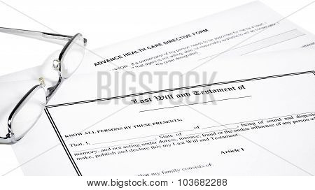 Last Will Medical Directive Inheritance Tax Form