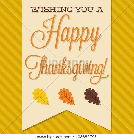 Sash Happy Thanksgiving Card In Vector Format.