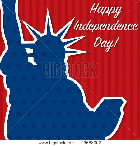 Liberty Independence Day Card In Vector Format.