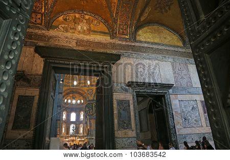Entering Hagia Sofia