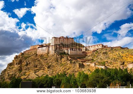 Gyantse Fortress in Shigatse, Tibet