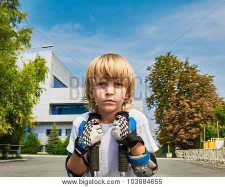 roller boy portrait