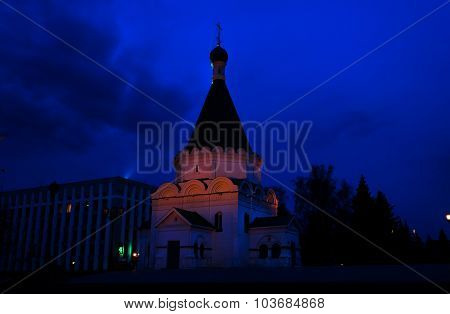 Archangel Michael Cathedral At Night