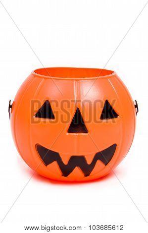 Halloween Pumpkin On White / Halloween Pumpkin / Halloween Pumpkin Isolated On White Background