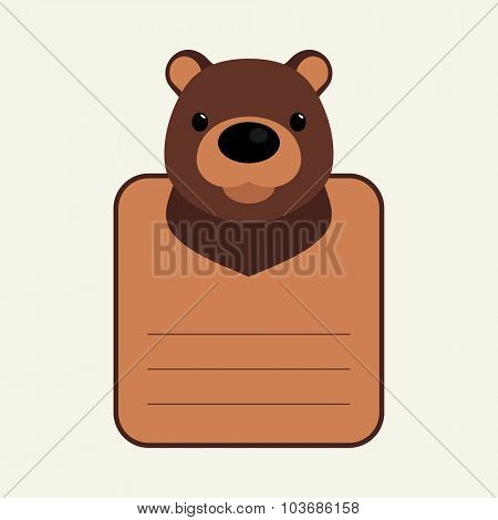 Animal banner with bear for you text
