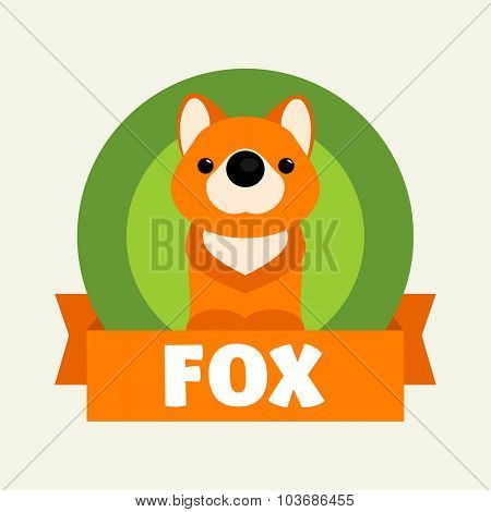 Little Fox. Vector illustrations