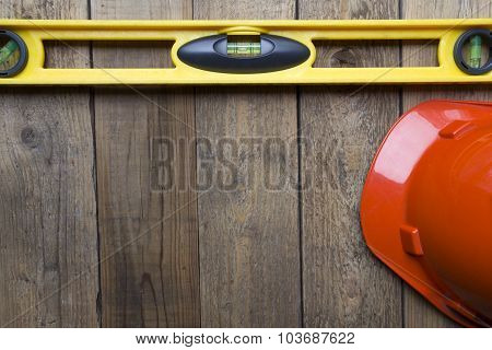 Yellow Building Level And Red Helmet