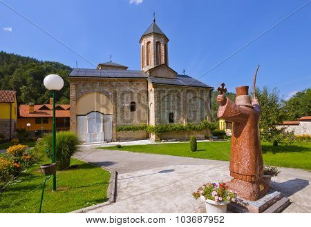 The medieval monastery Raca - Serbia - architecture travel background