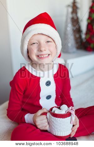 Kid At Christmas Time