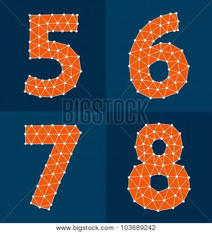 Orange Polygonal Numbers 5-8
