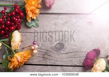 Flowers In Autumn Colors