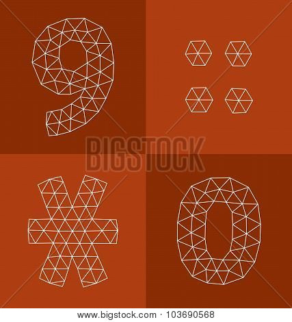 Polygonal Numbers 9, 0