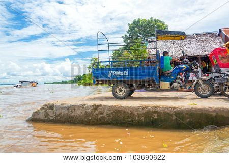 Rickshaw Near Iquitos, Peru