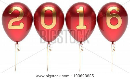 2016 New Years Eve Balloons Wintertime Party Decoration Red