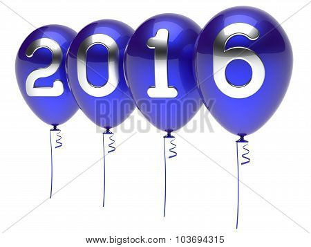 New 2016 Years Eve Balloons Wintertime Party Decoration Blue