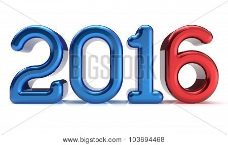 2016 New Years Eve Wintertime Decoration Number Blue Red
