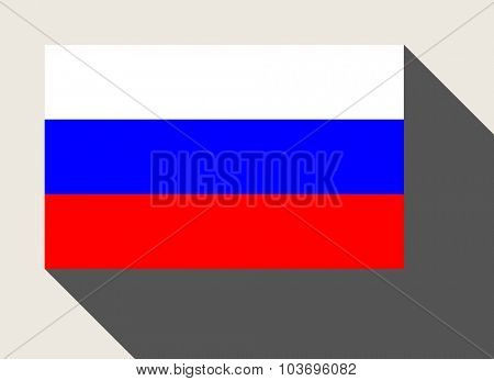 Russian Federation flag in flat web design style.