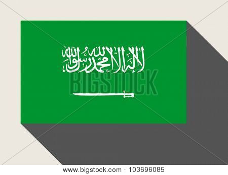 Saudi Arabia flag in flat web design style.
