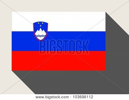 Slovenia flag in flat web design style.