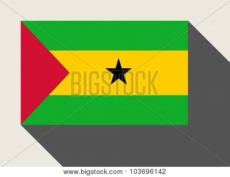 Sao Tome and Principe flag in flat web design style.
