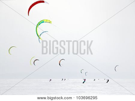 Winter Kitesurfing