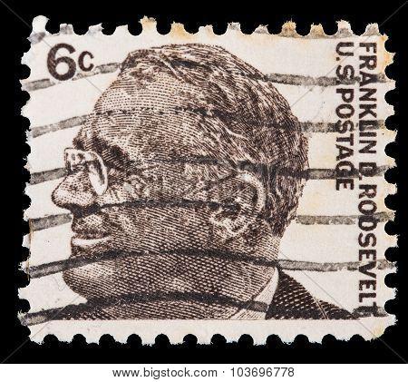 United States Postage Stamp Showing A Portrait Of President Franklin D. Roosevelt