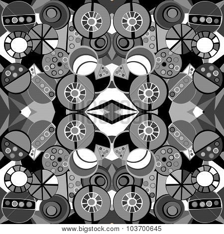 Pattern In Cubism Style