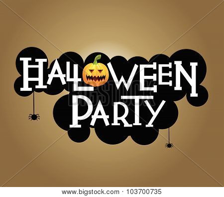 Halloween party text design
