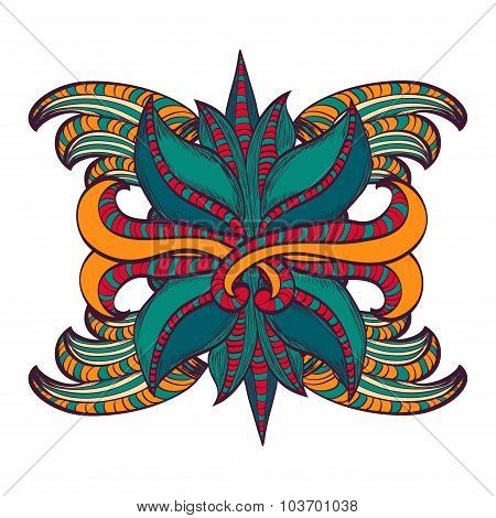 Mandala, Tribal Ethnic Ornament, Vector Islamic Arabic Indian Pattern