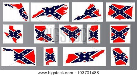 Confederate Flag Maps