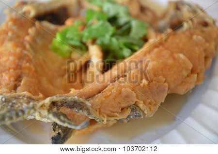fried sea bass in fish sauce